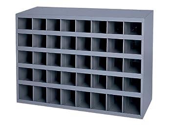 Durham 349-95 Gray Cold-Rolled Steel 40-Opening Bin 33-3/4  Width x 22-1/4  Height x 8-1/2  Depth