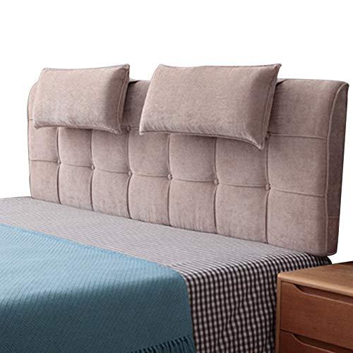 LXLIGHTS kilhuvudgavel, bekväm och andningsbar läskudde, tvättbar dubbelt ryggstöd, förvaringsväska för sängar utan sänggavel (färg: Brun, storlek: 90x58 cm)