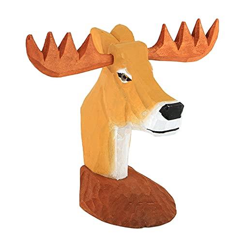 Hellery Creativo Soporte de Gafas de Madera Hecho a Mano Estante de exhibición de Animales - Ciervo