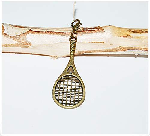Tennis Squash Charm Bronze Armband Anhänger