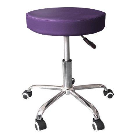 Mari Lifestyle Silla de Masaje | Taburete de Trabajo con Diseño Ortopédico y Ligero | Cojín de Espuma de 7.5cm | Silla Giratoria Ajustable en Altura (Gas) | Dimensiones: 37.5x37.5x47-59.5cm - Púrpura