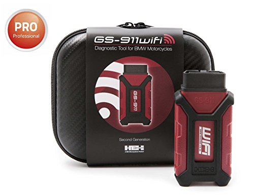 GS-911 WIFI (OBD-II) / Professional Version - Diagnostic Tool for BMW Motorcycles - Services unlimited VINS - compatible w/all 2017-on models with OBD-II diagnostic connectors (rectangular shape)