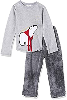 Giggles Front Embroidery Long Sleeves T-shirt with Full-Length Elastic Waist Pants Pajama Set for Girls