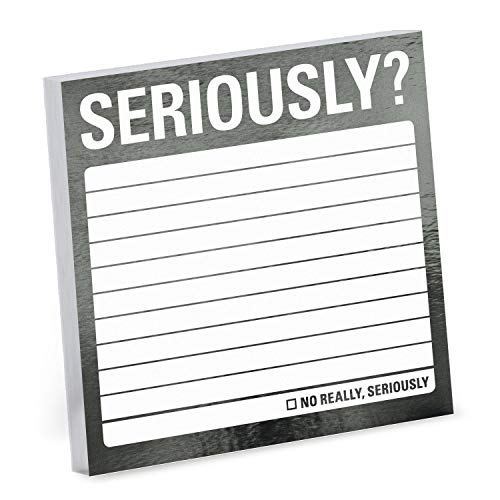 Knock Knock Seriously? Metallic Sticky Notes, 3 x 3-Inches (1-Count)