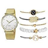 MTRESBRALTS - Juego de 6 relojes de moda para mujer, reloj Relogio Feminino As Show Watch Set11