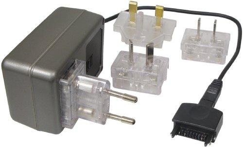 Transmedia Alimentatore di rete da viaggio 500mA PDA sincronizzato con GB/US/AU/EU maschio e connettore 100–240V/5V NTT16L