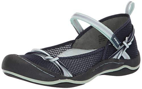 Price comparison product image JSport by Jambu Women's Misty Encore Mary Jane Flat,  Navy / Seafoam,  8.5 M US