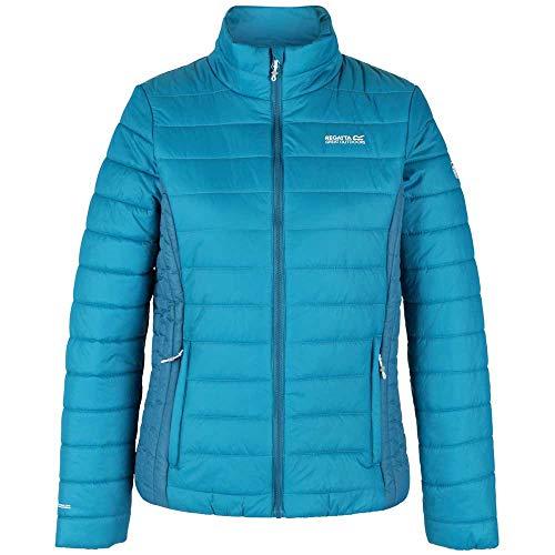 Regatta Damen Womens Freezeway Ii Lightweight Insulated Baffle Quilted Jacket With Zipped Pockets Jacke, Blau, 38