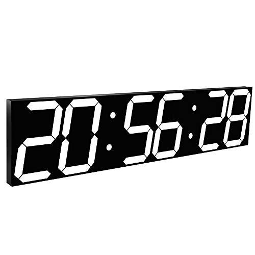 Reloj de gimnasio multifunción Inteligente digital de gran tamaño LED reloj de pared Jumbo Pantalla con conexión Wi-Fi Control de temporizador de cuenta regresiva Montaje en pared en escritorio