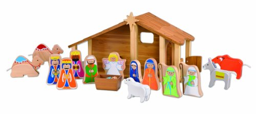EverEarth Bamboo Nativity Set