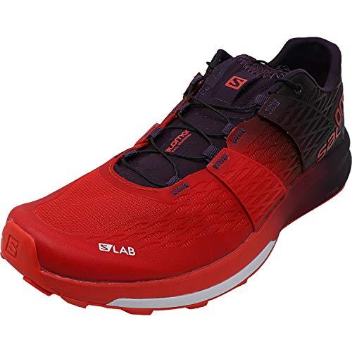 Salomon Mens S/Lab Sense Ultra 2 Trail Running Shoes, Racing Red/Maverick/White, 42 M EU/9 D(M) US