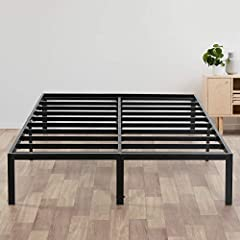 Unique Sturdy design - the frame encloses the mattress to prevent slipping with ample under-bed space Easy and seamless assembly – all the required hardware and tools are included/ headboard compatible Assembled dimensions: 81.5 x 61.5 x 14 inches Av...