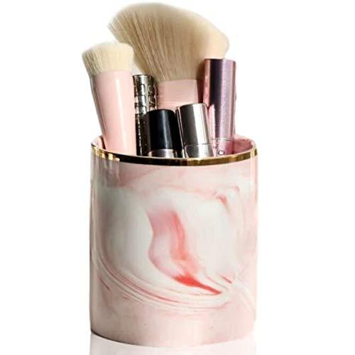 Copeflap メイクブラシケース 化粧ブラシ ホルダー 収納 ボックス ペン立て 化粧筆 筒形 ブラシスタンド (ピンク)