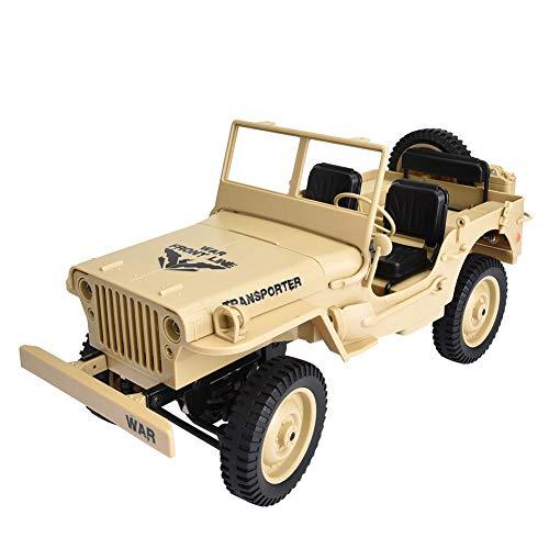 RC Auto, JJRC Q65 2,4 GHz 4WD Militär Lkw 1/10 RC Offroad Elektro-Spielzeugauto Hobby Lkw mit USB-Kabel, für alle Gelände geeignet, für Jungen Teens Erwachsene (3 Farben)(3#)