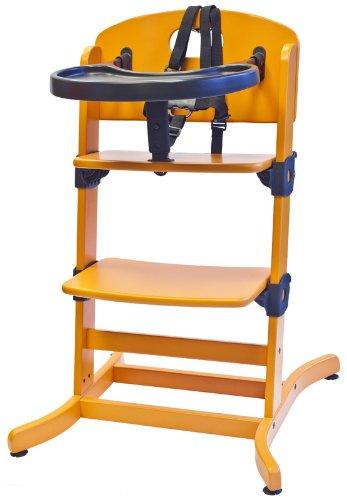 guzzie+Guss Banquet Wooden High Chair, Orange
