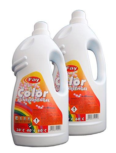 2 x Color Buntwaschgel von Fay, Waschmittel, Waschgel, Konzentrat, Buntwäsche