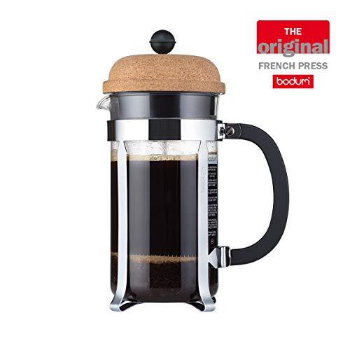 Bodum Chambord Kaffeebereiter 8 Tassen, Glas, Transparent/kork, 10.6 cm