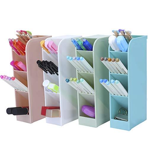 Sinwind Portalápices, Portalápices Infantil, Organizador de Escritorio para Lápices, Accesorios Escritorio, Caja de Almacenamiento de Oficina, Portalápices Niños (color4)