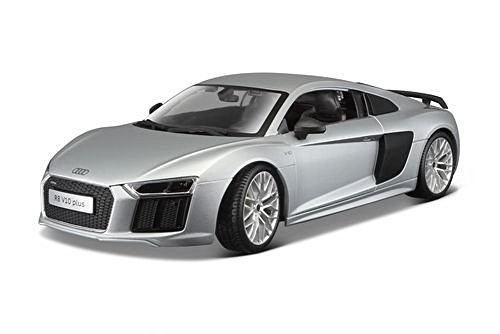 Maisto New 1:18 W/B Premiere Edition - Silver Audi R8 V10 Plus Diecast Model Car
