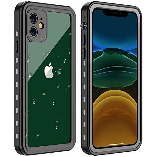AIHülle iPhone 11 Wasserdicht Hülle, [Staubdicht] [Wasserdicht] [Stoßfest] IP68 Zertifiziert voll versiegelt wasserfeste handyhülle für iPhone 11