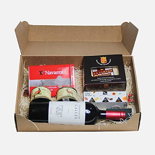 Smartbox - Caja Regalo - Caja Gourmoment a Domicilio: Vino, Queso manchego, Lomo y latas de codornices y judías - Ideas Regalos Originales