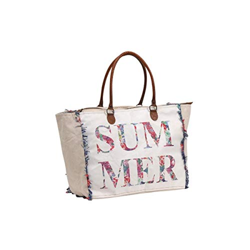 Terre Rouge Große Tasche Baumwolle Patchwork Fransen Sommer Gr. Einheitsgröße, weiß