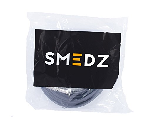 Smedz 20 m Twin Satellite Shotgun Coax Cable Extension Kit with Premium Fitted Compression F Connectors for Sky Q, Sky HD, Sky+ and Freesat - Black