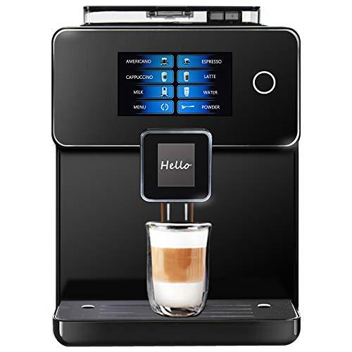 """Hanchen Super Automatic Espresso Machine Dual Color Screen 5"""" Touch Screen 19 Bar 1.8L One Touch Americano Espresso Cappuccino Latte Maker"""