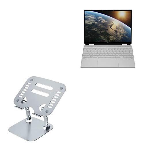 Suporte e suporte HP Spectre x360 14, BoxWave [Executive VersaView para laptop] Suporte ergonômico ajustável metálico para laptop HP Spectre x360 14 - Prata metálica