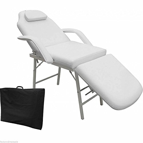 "GOPLUS 73"" Portable Tattoo Parlor Spa Salon Facial Bed Beauty Massage Table Chair White"