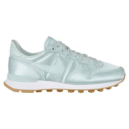 Nike Damen Internationalist QS Sneaker 919989 300, Grün - Fiberglas, Weiß, Gelb. - Größe: 40 EU