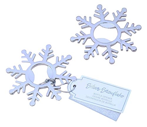 100pcs Silver Snowflake Bottle Opener For Wedding Party Favor