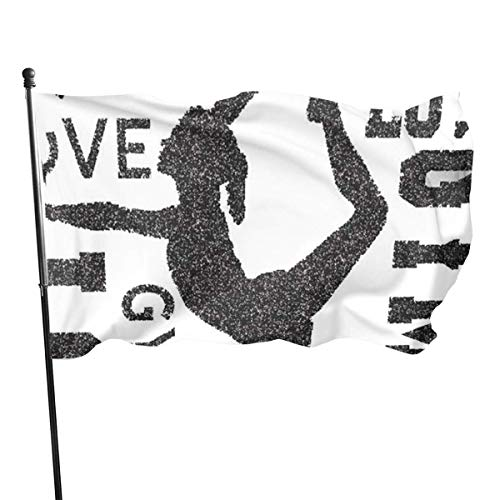 Oaqueen Flagge/Fahne Love Gymnastics Garden Flag Yard Home Outdoor Decor Durable and Fade Resistant 3'x5' FT