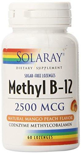 Solaray B 12 Methyl Lozenge Supplement, 2500mcg | 60 Count