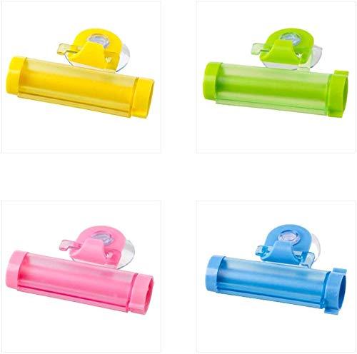 Edewb tandpasta Squeezer roller tandpasta dispenser voor badkamer accessoires orgenizers goed voor peuter tandenborstel tandpasta behoeften en volwassene, Set van 4