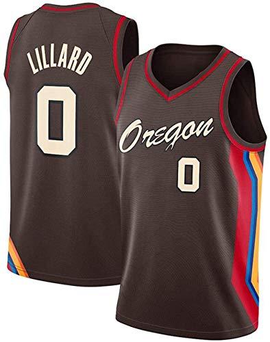 XSJY Jerseys De Baloncesto para Hombres - NBA Portland Trail Blazers # 0 Lillard Swingman Edition Malla Jersey Unisex Vest Mayass Vest Top Sportwear,M:170~175cm/65~75kg
