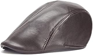 2019 Women Quilted Peaked Cap for Unisex Leather Adjustable Flat Cap Duckbill Newsboy Gatsby Irish Hat 55-60cm Windproof (Color : 4, Size : Free Size)