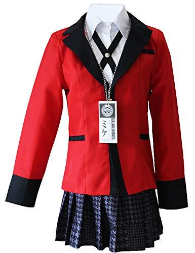 Yumeko Jabami Costume School Uniforms Anime Cosplay Party Full Set (X-Large)