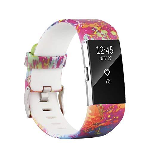 Molitececool - Pulsera de repuesto compatible con Fitbit Charge 2, pulsera de repuesto para Fitbit Charge 2, monitor de actividad física pequeño/grande