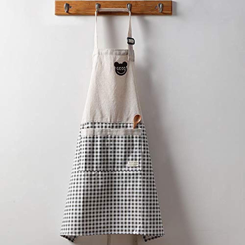 DJYdzsw Schürze aus Reiner Reiner Reiner Baumwolle Haushalt Mode Kochen Wasserdichte Weste süße Blause, grau B07QJX57PK 6555dd