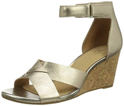 Clarks Damen Margee Gracie Sandale mit Absatz, Silber, 40 EU