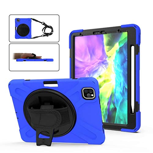 Neepanda Case for iPad Pro 11 inch 2020, [Support Apple Pencil Pair & Charging] Heavy Duty Shockproof Protective Cover with Stand and Hand/Shoulder Strap for New iPad Pro 11 2nd Generation,Blue