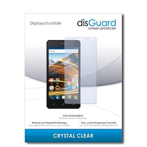 disGuard® Bildschirmschutzfolie [Crystal Clear] kompatibel mit Archos 50d Neon [2 Stück] Kristallklar, Transparent, Unsichtbar, Extrem Kratzfest, Anti-Fingerabdruck - Panzerglas Folie, Schutzfolie