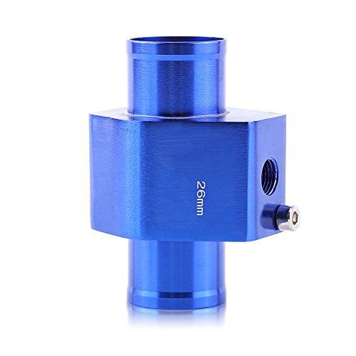 Adaptador universal de manguito para sensor de temperatura de agua de radiador, azul 26 mm, aluminio 40 mm