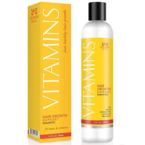 Nourish Beaute – Champú para la pérdida de cabello - Vitaminas naturales, bloqueador DHT para un crecimiento más rápido en...