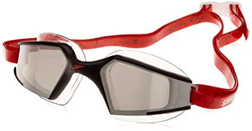 Speedo Aquapulse Max 2 Occhialini da Nuoto, Unisex adulto, Black/Lava Red/Chrome Taglia Unica