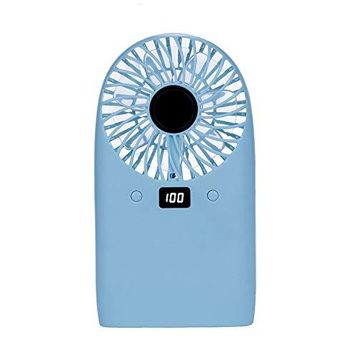 HYXXQQ USB-ventilator, desktopventilator, draagbare handventilator, extreem stil, oplaadbare mobiele telefoonventilator, met 4 snelheden, voor op kantoor, voor outdooractiviteiten, camper, blauw