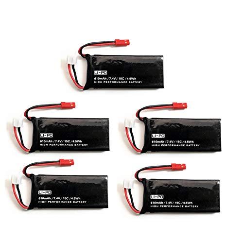 FSXMPL Batería para H502S H502E RC Quadcopter Repuestos 7.4V 15C 610mAh Batería