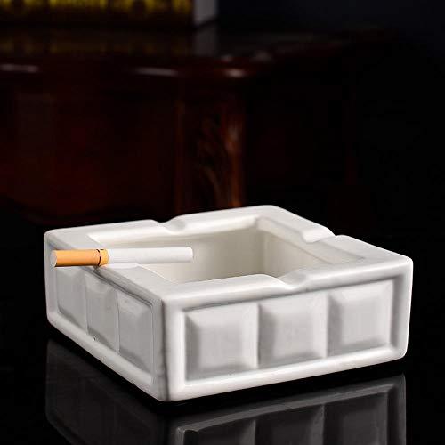 Qianqingkun Keramische lade, thuis geometrische eettafel weefsel doos, woonkamer salontafel papier lade asbak ashtray