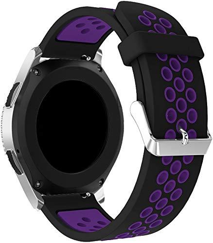Chainfo Correa de Reloj Recambios Correa Relojes Caucho Compatible con Polar Vantage M - Silicona Correa Reloj con Hebilla (22mm, Pattern 7)